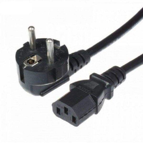 کابل برق سه پین منبع تغذیه کامپیوتر طول 1.5 متر
